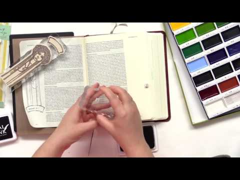 How to Use Watercolors and Stamps in Your Journaling Bible | Lesson 9 | Rebekah R Jones