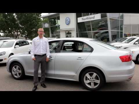 Demonstrating Jetta Construction Quality with Oliver Lay at Northland Volkswagen in Calgary, AB