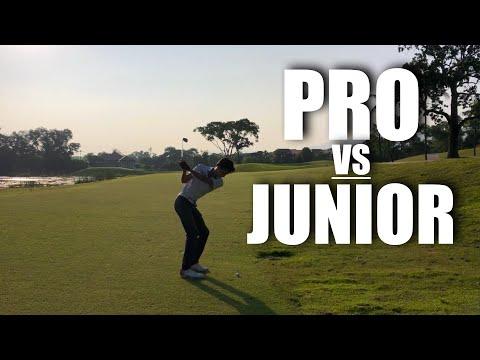 COURSE VLOG - Thailand PGA Tour Pro VS Junior Golfer
