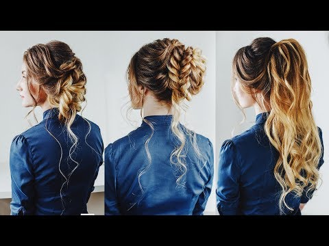 3 Easy Updo For Thin Long Hair Kuklalu Compilation Youtube