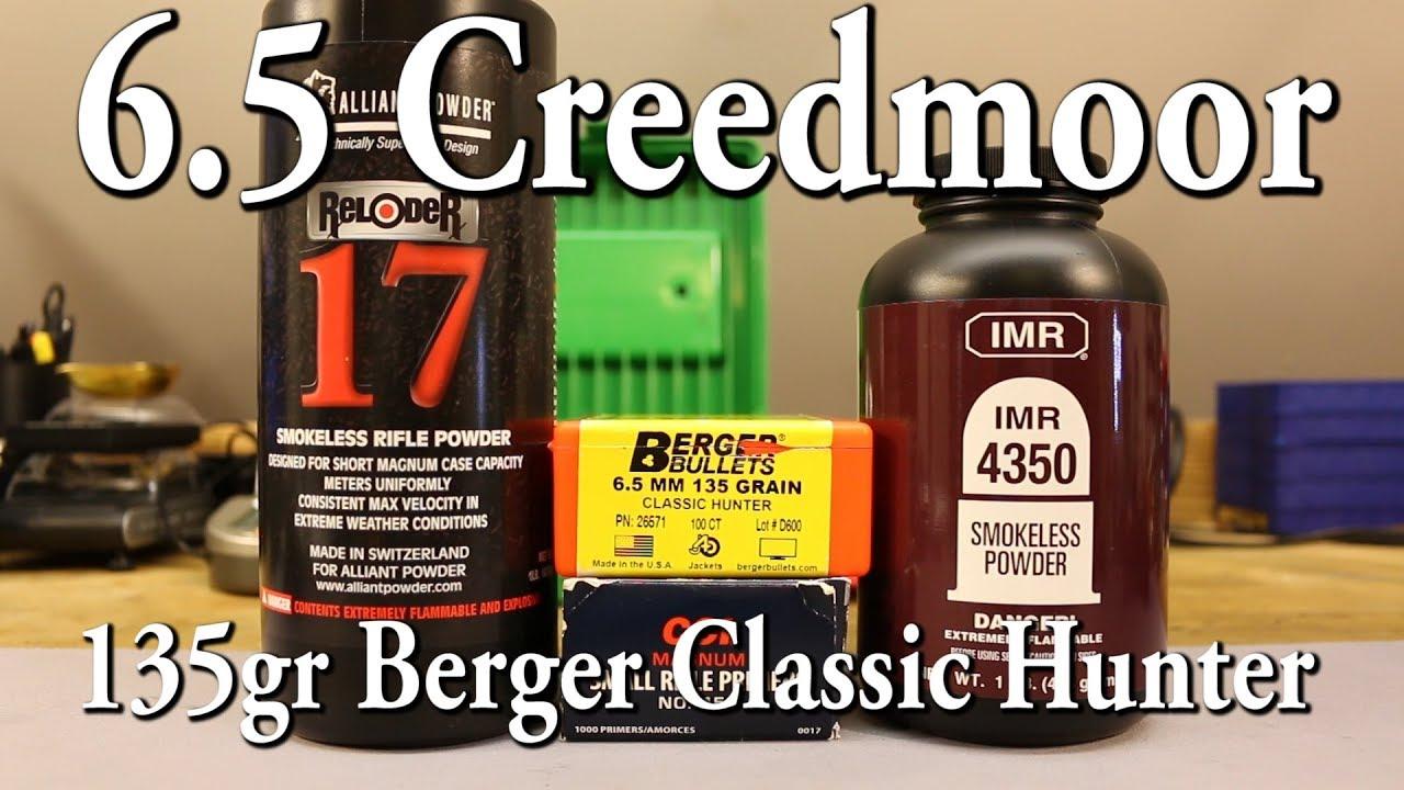 6 5 Creedmoor - 135gr Berger Classic Hunter