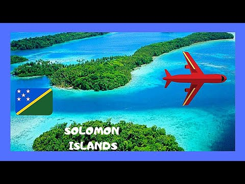 SOLOMON ISLANDS, spectacular FLIGHT from GUADALCANAL to GHIZO ISLAND