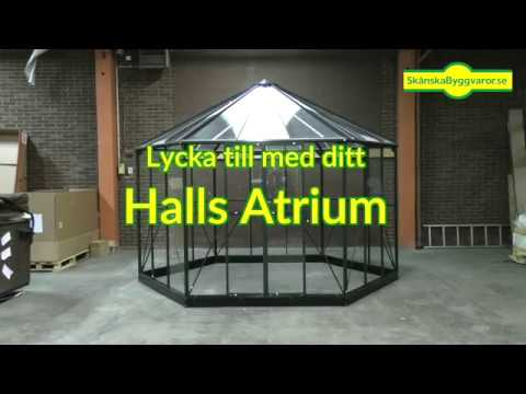 Monteringsvideo växthus Halls Atrium. 12 min