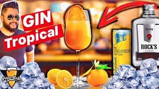 GIN TROPICAL com RED BULL TROPICAL e Gin Rocks - Como fazer