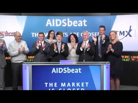 AIDSbeat closes Toronto Stock Exchange, May 25, 2017