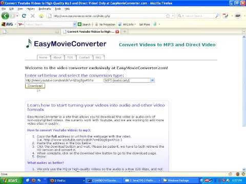 Convert Youtube Videos To Mp3, Mp4, Ipod, Psp, Mov, 3gp, And More