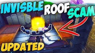 *NEW UPDATED* THE INVISIBLE CEILING TRAP SCAM (Scammer Gets Scammed) Fortnite Save The World