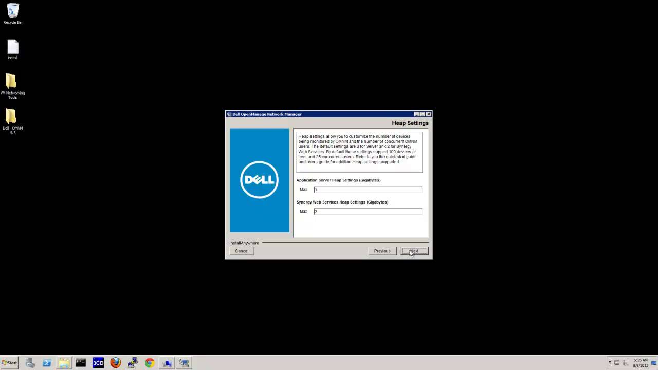 OpenManage Network Manager v5 3 Installation