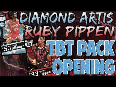 DIAMOND ARTIS GILMORE! NBA 2K17 THROWBACK BULLS AND BLAZERS PACK OPENING! RUBY SCOTTIE PIPPEN!