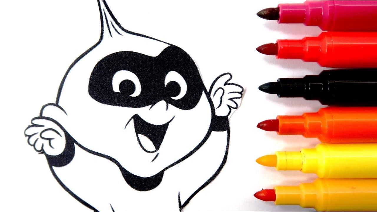 Rotuladores Mágicos De Los Increibles 2 Con Dibujos Sorpresa Color