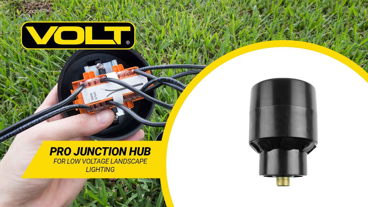 volt what s in the box pro junction hub for low voltage landscape lighting