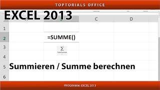 SUMMEN BILDEN  / SUMMIEREN / Werte zusammen rechnen (Excel)
