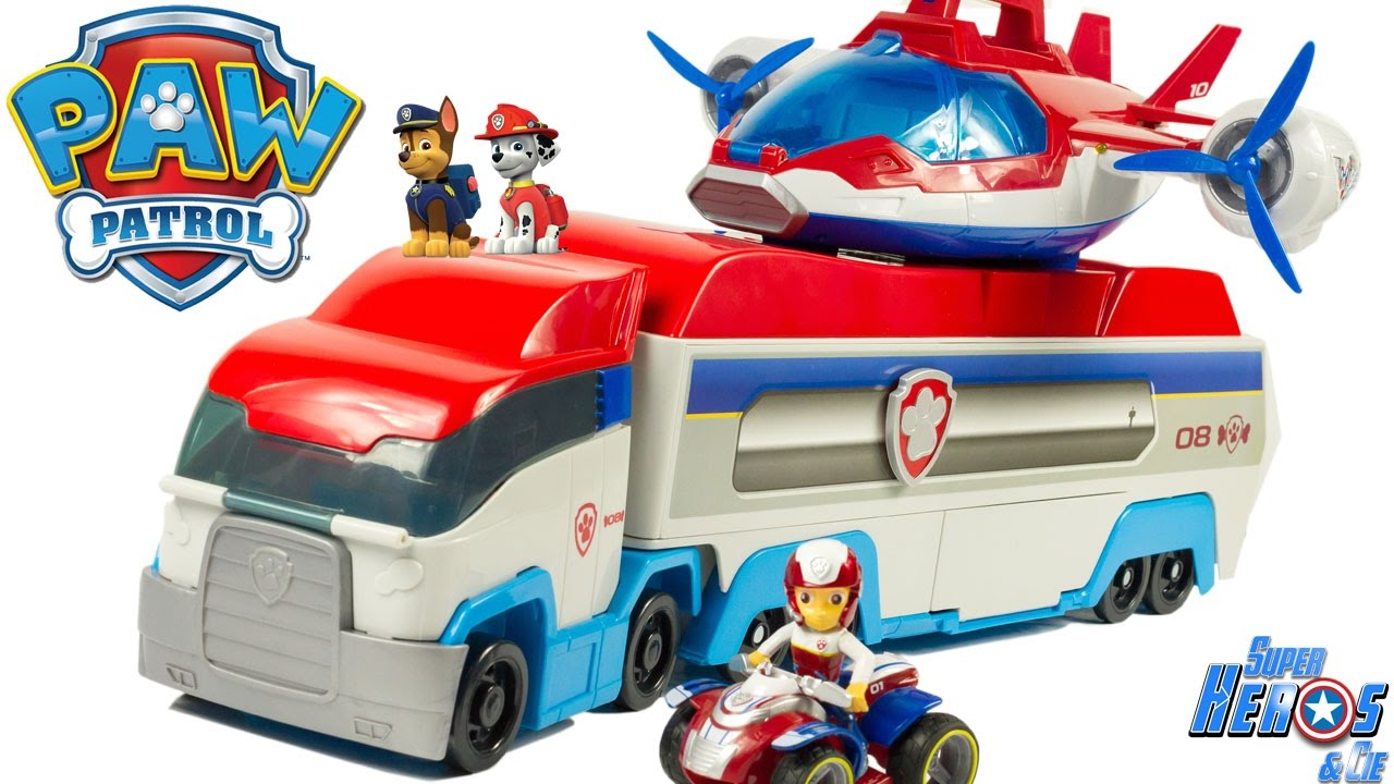 pat patrouille camion patrouilleur paw patroller truck patrulla canina jouets toys review youtube. Black Bedroom Furniture Sets. Home Design Ideas