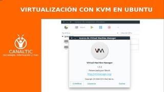 Virtualización con KVM UBUNTU