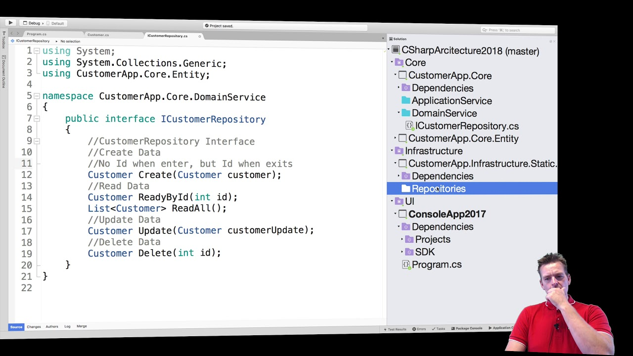 C# Clean Architecture and more with NET Core 2018 | S2P9 | Implement  CustomerRepo