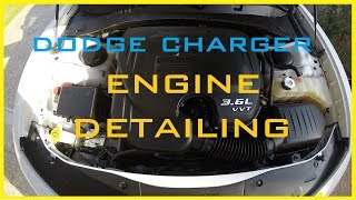 Engine bay dry cleaning (Dodge Charger 3.7L)