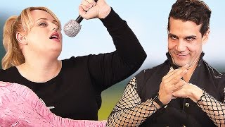Fat Amy vs Das Sound Machine in funny PITCH PERFECT 2 Interview | Daniele Rizzo