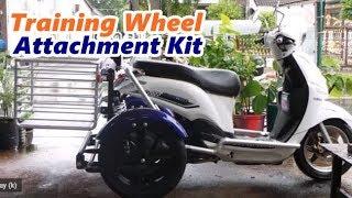 YAMAHA Filano ติดตั้งชุดล้อกันล้ม ราคา 23,000 บาท Side Wheel Attachment Kit