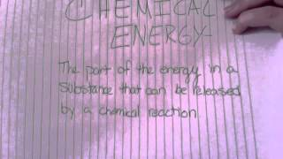 Electrical, Mechanical, and Chemical Energy