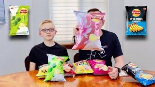 Tasting Weird Potato Chips Flavors (Taste Test)