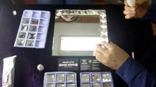 Cam Taşlarla Ayna Süsleme Dekorasyon