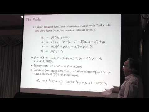 """John Duffy: Discussion of """"Escaping Expectations-Driven Liquidity Traps: Experimental Evidence"""""""