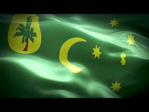 Cocos Islands anthem & flag FullHD / Кокосовые острова гимн и флаг