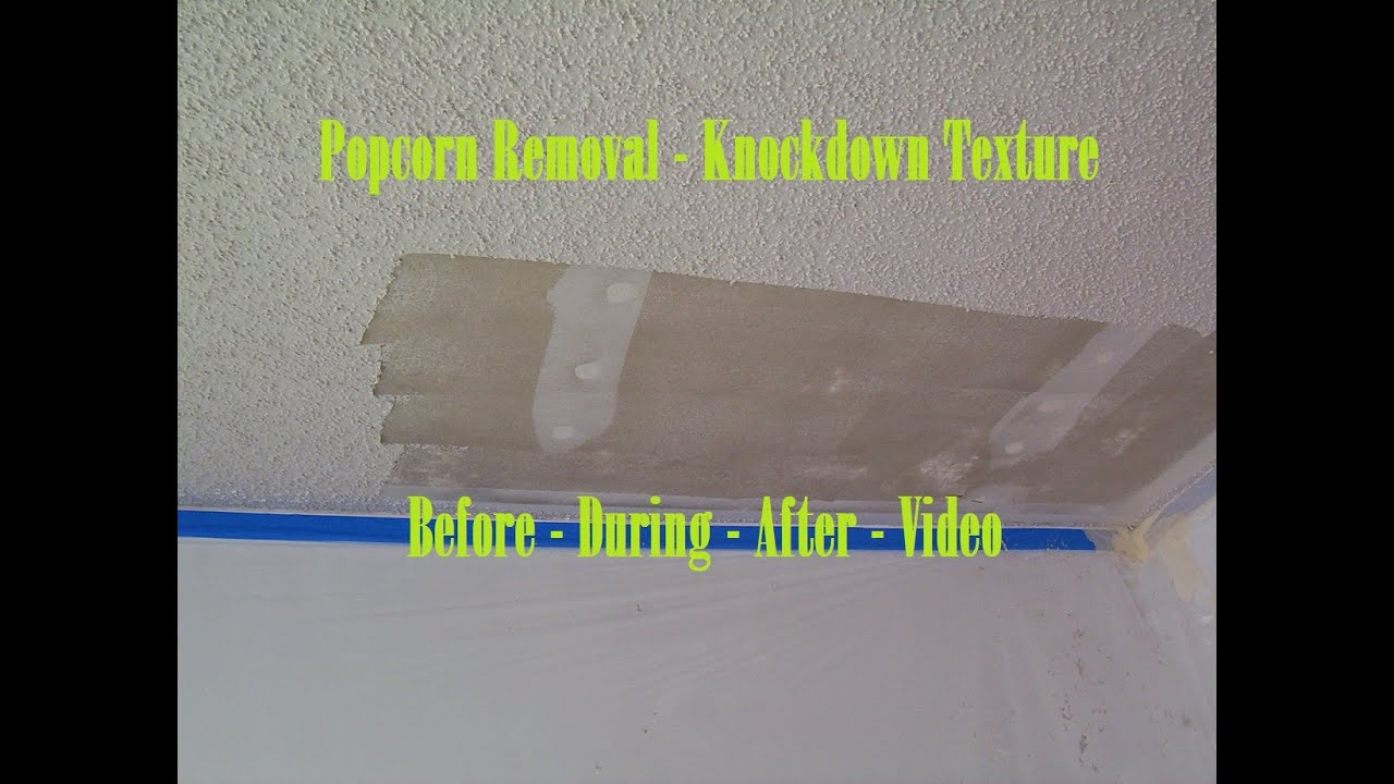 How To Refinish A Ceiling After Removing Popcorn ...