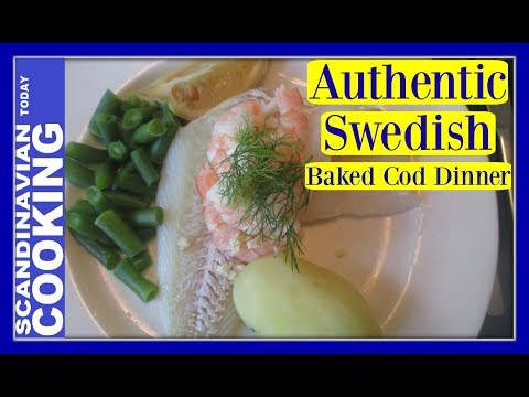 Swedish Oven Baked Cod with Shrimp and Grated Horseradish 🍋