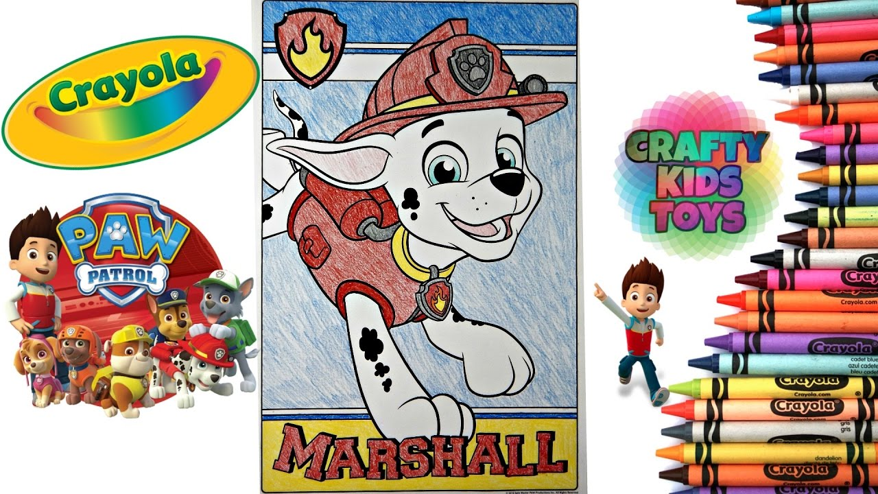 paw patrol crayola giant coloring page coloring marshall fire dog
