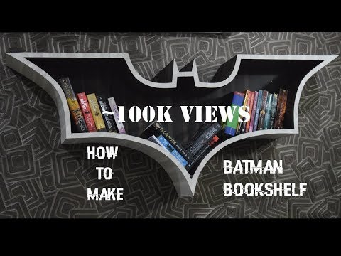 How To Make Batman Bookshelf Diy Youtube