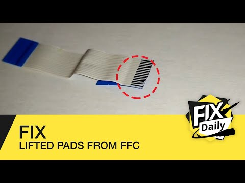 Easily fix lifted pads from your FFC of your PlayStation or laptop without cutting it