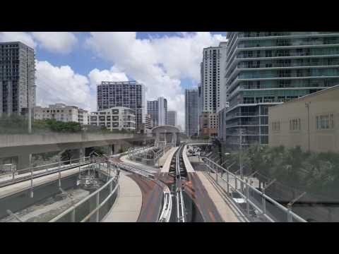 Metromover, Downtown Miami, July 2017