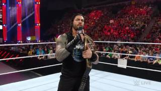 Roman reigns went to talk to seth rolling