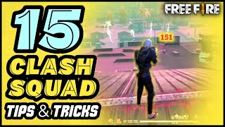 TOP 15 CLASH SQЏAD TIPS AND TRICKS IN FREE FIRE