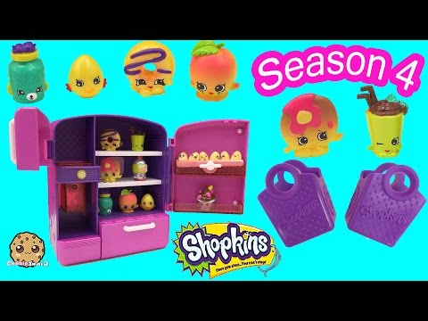 Shopkins Season 4 Petkins Exclusives In Metallic So Cool Fridge Toy Playset Cookieswirlc Video