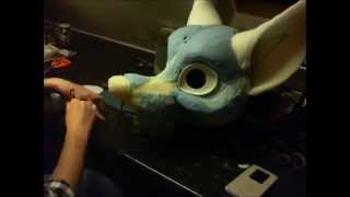 Fursuit Head Tutorial - Time Lapse - Part 2 - Eyes