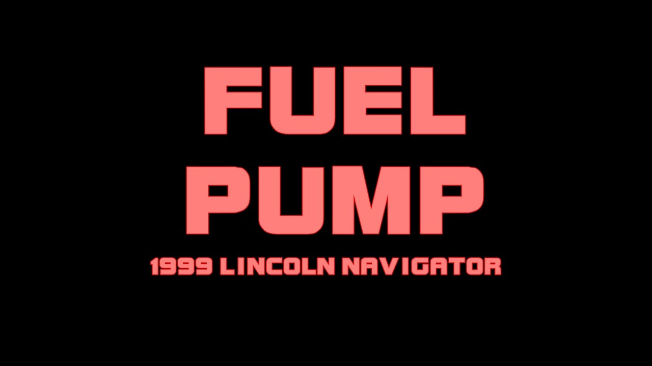 small resolution of 1999 lincoln navigator replacing the fuel pump