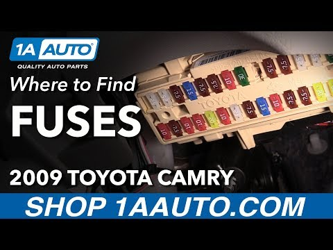 [DIAGRAM_5FD]  Where to Locate Fuse Boxes 06-11 Toyota Camry - YouTube | 2009 Toyota Camry Fuse Box Layout |  | YouTube