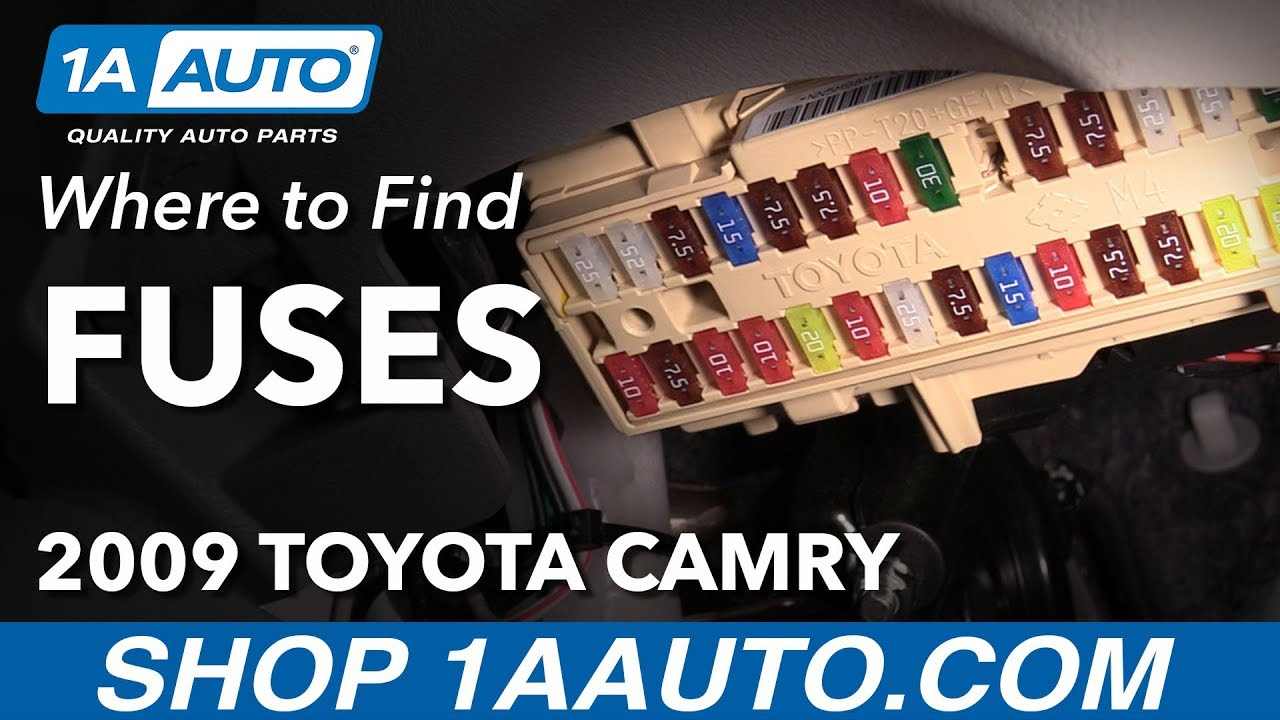 Where to Locate Fuse Boxes 0611 Toyota Camry  YouTube