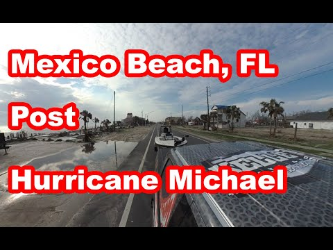 Mexico Beach Recovery after Hurricane Michael from US HWY 98