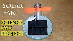 Alternative Energy Fan Science Fair Project, Solar Energy, Solar Power, Green Energy