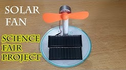 Alternative Energy Fan Science Fair Project, Solar Energy, Solar Power, Green Energy