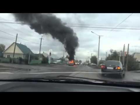 В Белове сгорел автомобиль