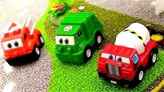 Coches y camiones - Grúa - Videos para niños - Carros para niños - Camiones infantiles