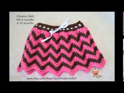 Free Crochet Pattern Child Skirt : CROCHET SKIRT PATTERN - YouTube