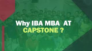 Why Capstone for IBA MBA ?