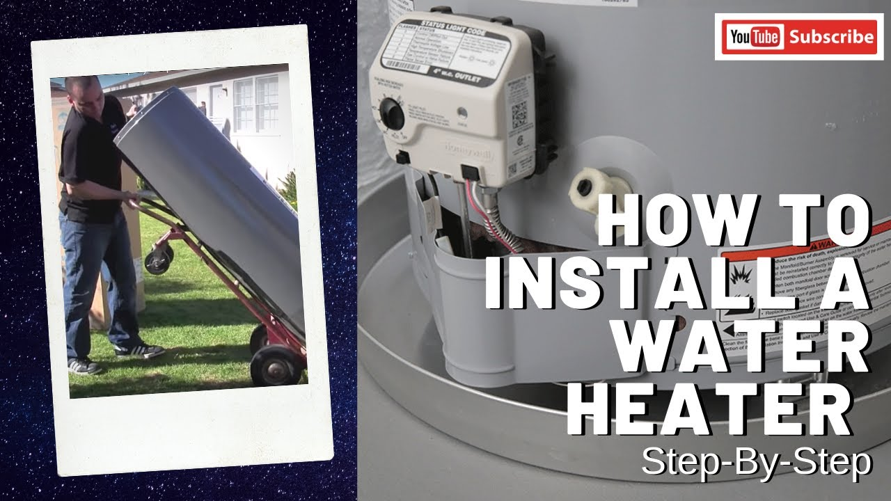 How to Install a Water Heater - Step-by-step Mobile Home Water Heater Rheem on