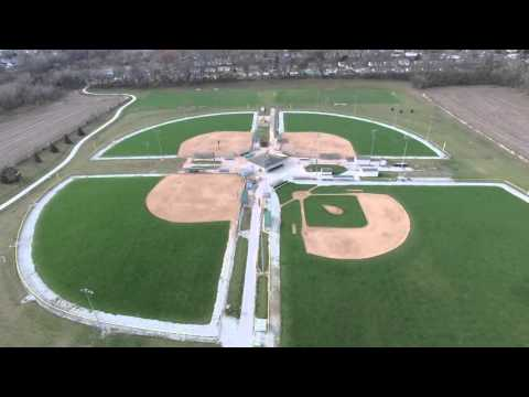 Fly over LaVista Nebraska Sports Complex with drone - DJI Phantom 3 pro