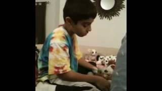 8 year old boy who talks to self
